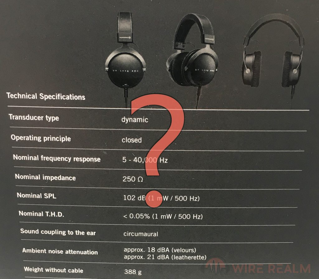 What do the specifications of headphones mean?