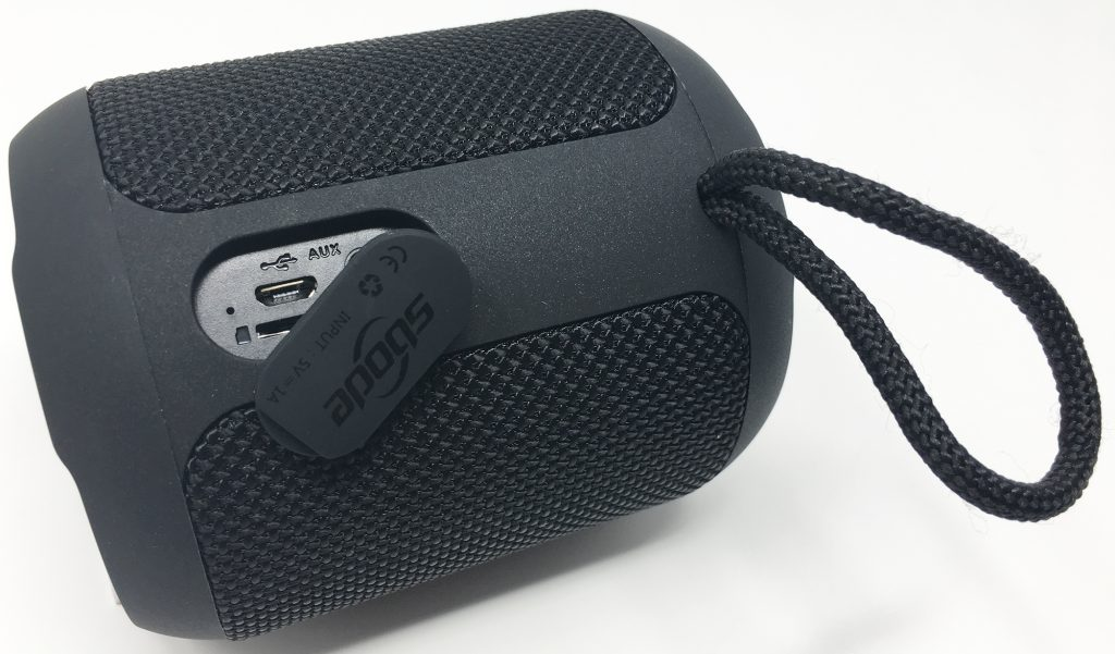 The charging and aux port of the Sbode portable speaker