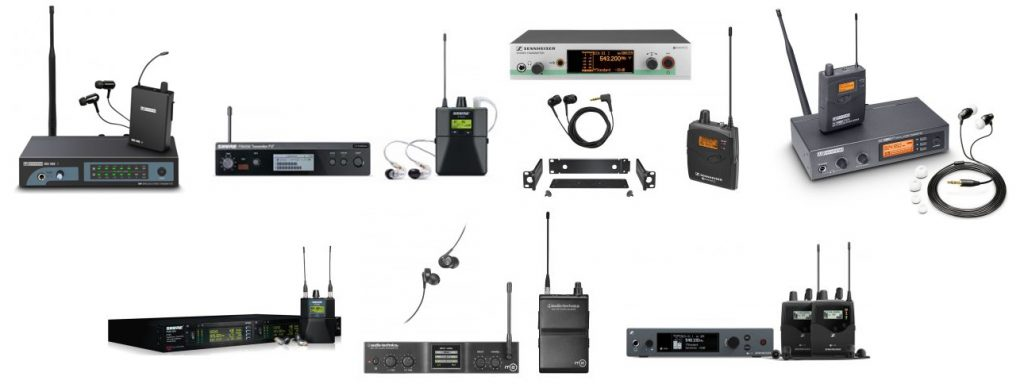 We found a few of our favorite already put-together in-ear monitors with wireless systems