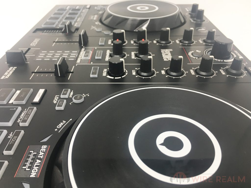 More close up views of the Hercules DJControl Inpulse 300 DJ Controller