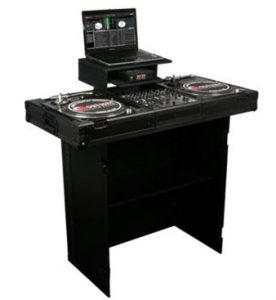 A very high quality stand for DJ laptops by Odyssey