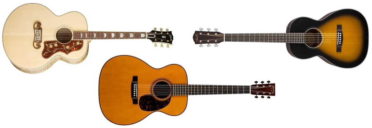 What are the different types of acoustic guitar bodies?