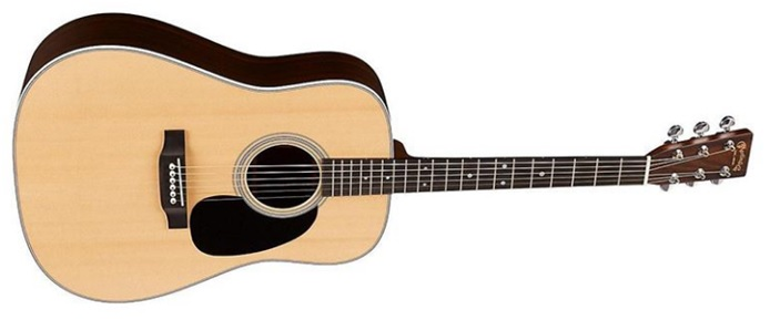 The most popular type of acoustic guitar body