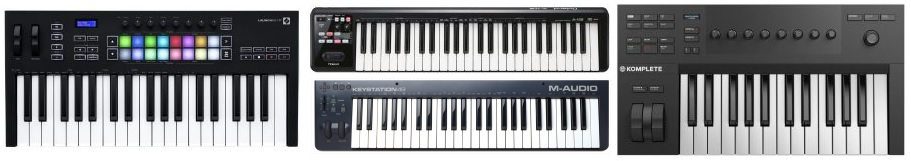 A collection of MIDI keyboards for $200 or less