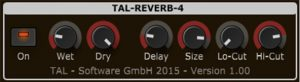 TAL has 4 free reverb plugins but we love this one the best