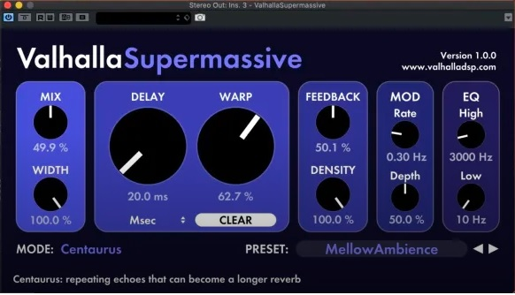 ValHalla is one of the absolute best plugin creators out there